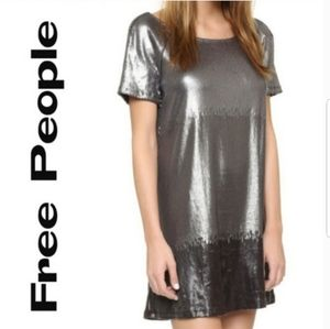 Free People Drenched in Sequin Ombre Dress, Medium